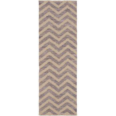 Phillips Beige/Mauve Area Rug Rug Size: Runner 26 x 8