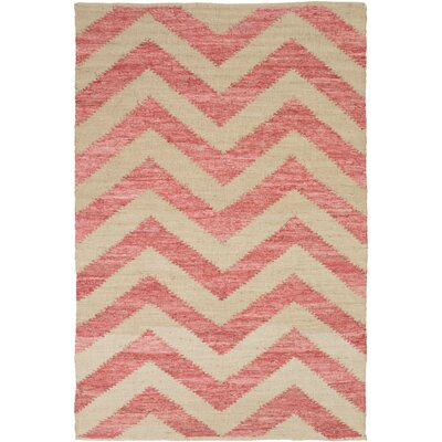 Phillips Beige/Carnation Area Rug Rug Size: 36 x 56