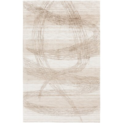 Mcgee Hand Woven Beige Area Rug Rug Size: Rectangle 4 x 6