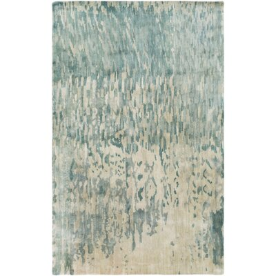 Eridani Light Gray/Blue Area Rug Rug Size: Rectangle 5 x 8