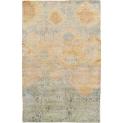 Eridani Handmade Beige/Slate Area Rug Rug Size: Rectangle 2 x 3