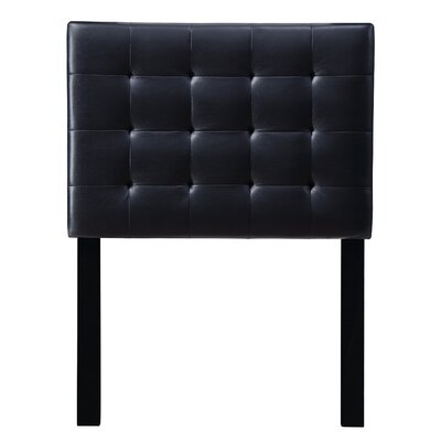 Leach Upholstered Panel Headboard Upholstery: Black, Size: King