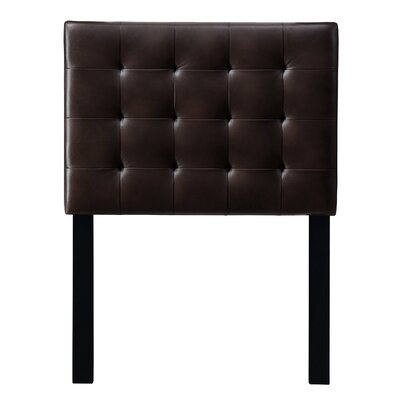 Leach Upholstered Panel Headboard Upholstery: Brown Mesquite, Size: King