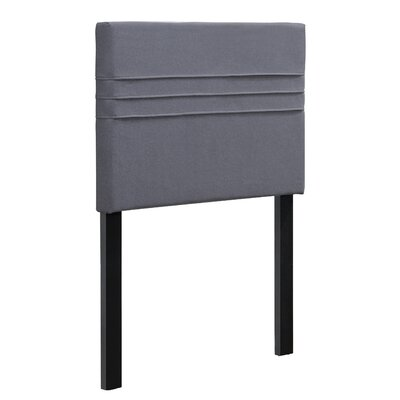 Maynard Upholstered Panel Headboard Upholstery: Heather Dark Gray, Size: Twin