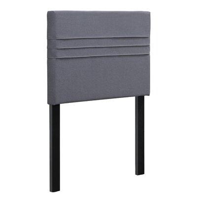 Maynard Upholstered Panel Headboard Upholstery: Heather Dark Gray, Size: Twin