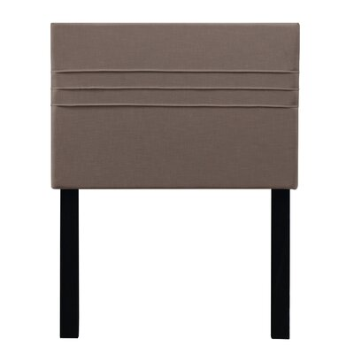 Maynard Upholstered Panel Headboard Upholstery: Latte Dark Brown, Size: Twin