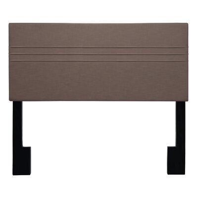 Maynard Upholstered Panel Headboard Upholstery: Latte Dark Brown, Size: Full/Queen