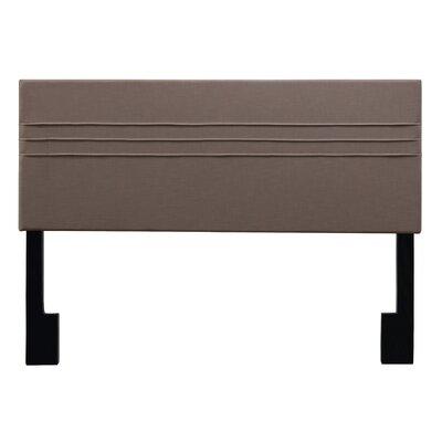 Maynard Upholstered Panel Headboard Upholstery: Latte Dark Brown, Size: King