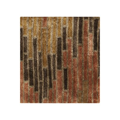 Barrera Stone/Golden Brown Rug Rug Size: 2 x 3