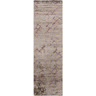Barrera Olive Gray/Gray Area Rug Rug Size: Runner 26 x 8