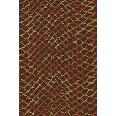 Barrera Espresso/Burnt Sienna Rug Rug Size: Rectangle 5 x 8