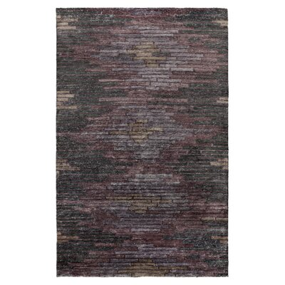 Barrera Prune Purple/Gray Rug Rug Size: 8 x 11