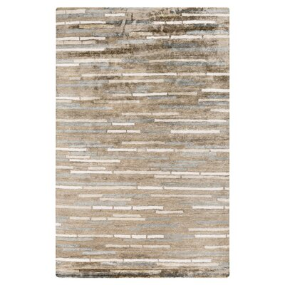 Barrera Parchment/Feather Gray Rug Rug Size: 9 x 13