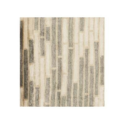 Barrera Parchment/Icicle Rug Rug Size: Runner 26 x 8