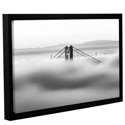 'Across the Bay BW' Framed Graphic Art Print on Canvas Size: 12
