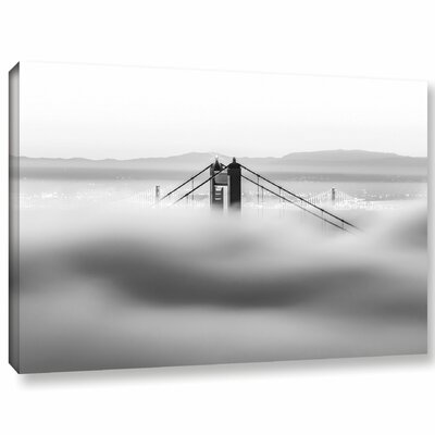 'Across the Bay BW' Graphic Art Print on Canvas Size: 12
