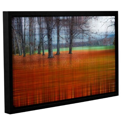 'Abstract Autumn' Framed Graphic Art Print on Canvas Size: 12