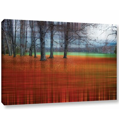 'Abstract Autumn' Graphic Art Print on Canvas Size: 12