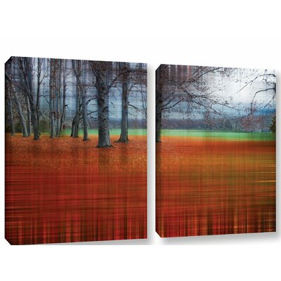 'Abstract Autumn' Graphic Art Print Multi-Piece Image on Canvas Size: 18
