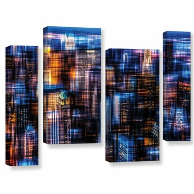 'Downtown II' Graphic Art Print Multi-Piece Image on Canvas Size: 24