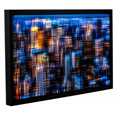 'Downtown II' Framed Graphic Art Print on Canvas Size: 12