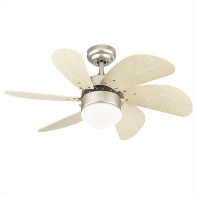 30 Jules 6 Blade Ceiling Fan Finish: Brushed Aluminum with Light Maple Blades