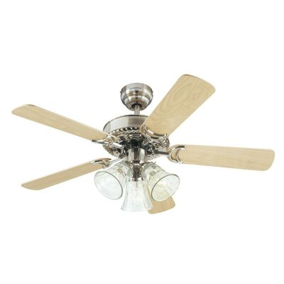"42"" Dalton 5 Reversible Blade Ceiling Fan LATT4385 37983240"