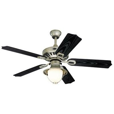 52 Urbana 5 Blade Ceiling Fan Finish: Antique Pewter with Black Blades