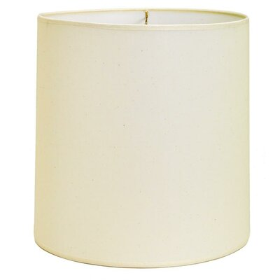 12 Traditional Linen Fabric Drum Lamp Shade Color: White