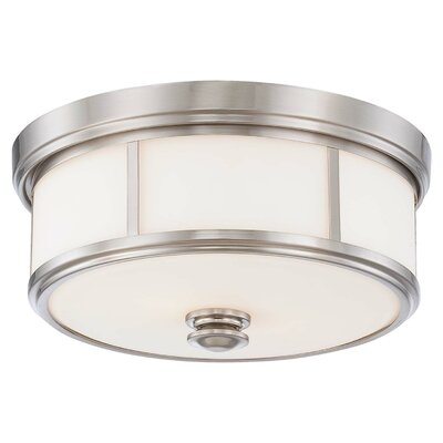 Athens 2-Light Flush Mount Finish : Brushed Nickel
