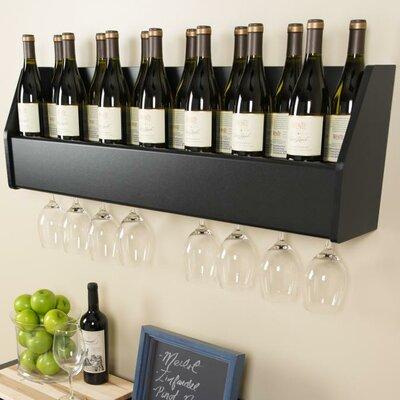 Keene 18 Bottle Wall Mounted Wine Rack Finish: Black