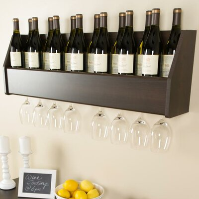 Klatt 18 Bottle Wall Mounted Wine Rack Finish: Espresso