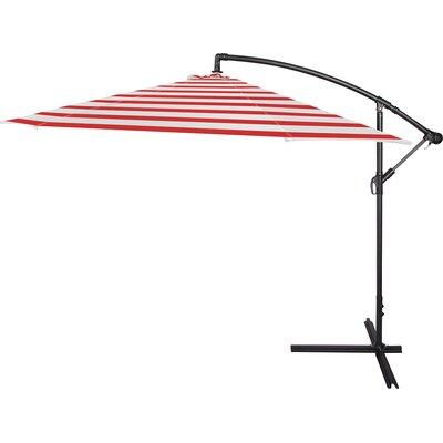 10 Stockham Cantilever Umbrella Canopy Color: Red Stripe