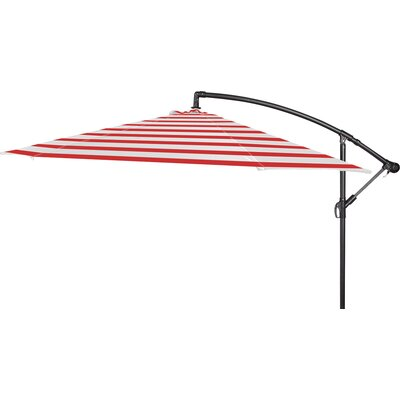 10 Stockham Cantilever Umbrella Canopy Color: Red Stripe
