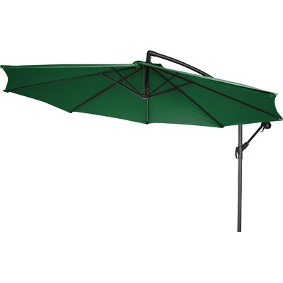 10 Stockham Cantilever Umbrella Canopy Color: Dark Green
