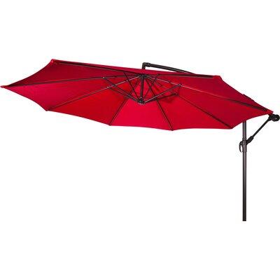 10 Stockham Cantilever Umbrella Canopy Color: Red