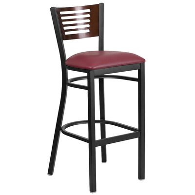 Brennen 32 Bar Stool Seat Color: Burgundy