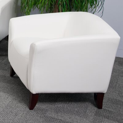 Brennen Leather Lounge Chair Seat Color: White