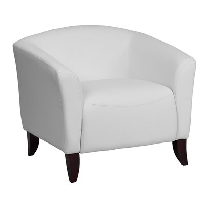 Pyron Leather Lounge Chair Seat Color: White