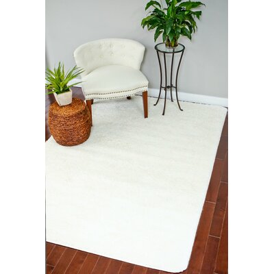 Bennet Shag Plain White Area Rug Rug Size: Rectangle 7 x 10