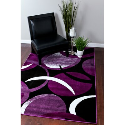 Bennet Abstract Purple Area Rug Rug Size: Rectangle 52 x 72