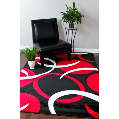 Bennet Modern Red Area Rug Rug Size: Rectangle 52 x 72