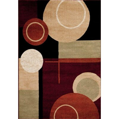 Bennet Abstract Black Rust Area Rug Rug Size: 52 x 72