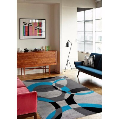 Bennet Abstract Turquoise Area Rug Rug Size: Rectangle 710 x 102