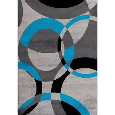 Bennet Abstract Turquoise Area Rug Rug Size: Rectangle 52 x 72