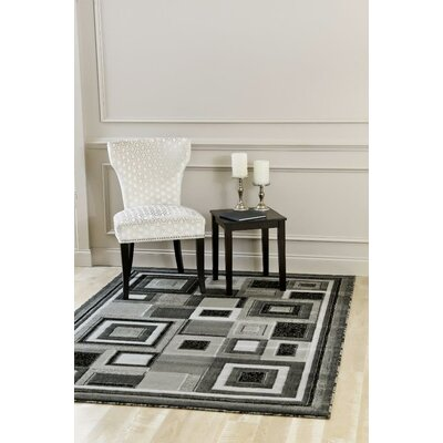 Bennet Gray Indoor/Outdoor Area Rug Rug Size: 6' x 9'