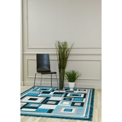 Bennet Turquoise Indoor/Outdoor Area Rug Rug Size: 5 x 7
