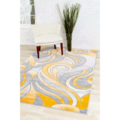 Bennet Mango/Gray Indoor/Outdoor Area Rug Rug Size: 5'2