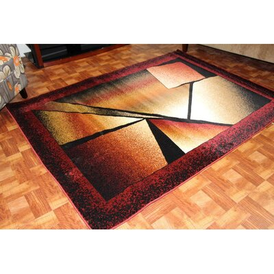 Bennet Burgundy Indoor/Outdoor Area Rug Rug Size: 5 x 7
