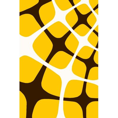 Bennet Yellow Indoor/Outdoor Area Rug Rug Size: 5 x 7